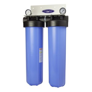 """CRYSTAL QUEST® Whole House Triple 20"""" x 5.0"""" Water Filter System."""