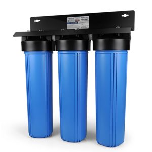 iSpring WGB32B 3-Stage Whole House Water Filtration System w/ 20-Inch Big Blue Sediment and Carbon Block Filters.