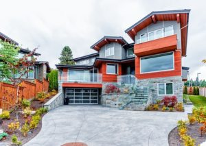 Big modern home.