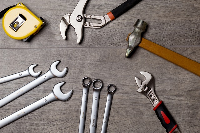 Tools on the table.