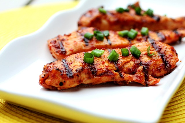 Cooked chicken breasts.