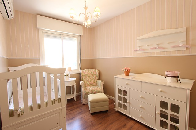 Room set up for baby.