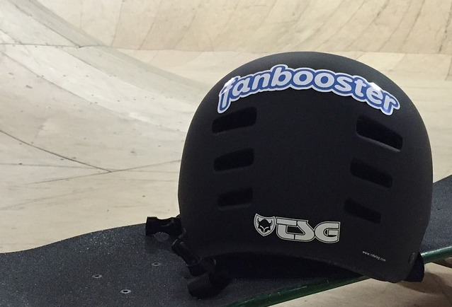 Back of skateboard helmet.