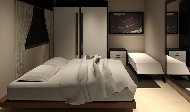 Dorm room graphic.