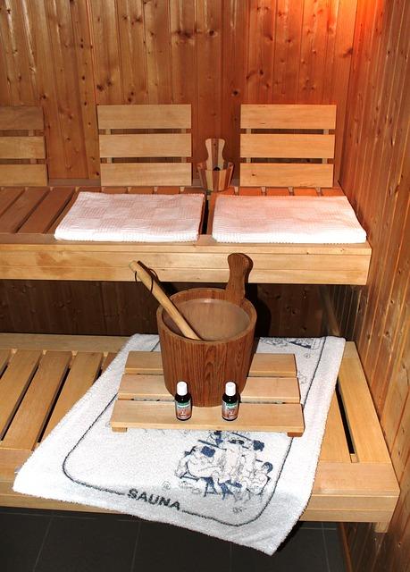 Sauna bucket and oils.