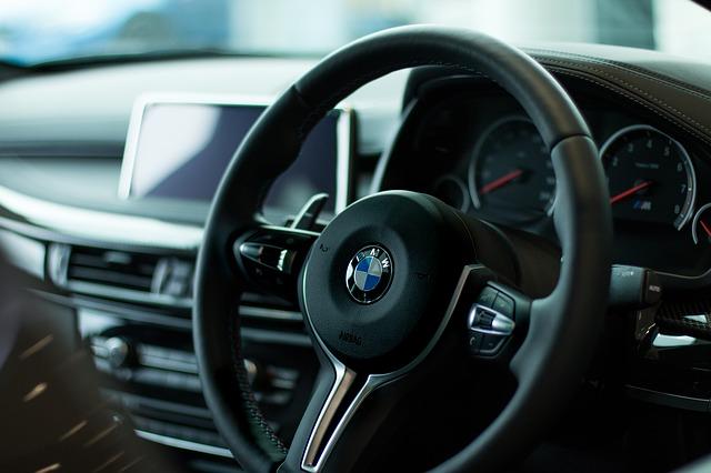 BMW steering wheel.