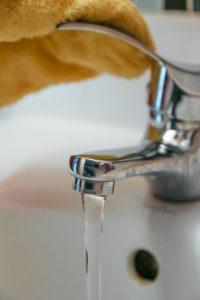Open faucet.
