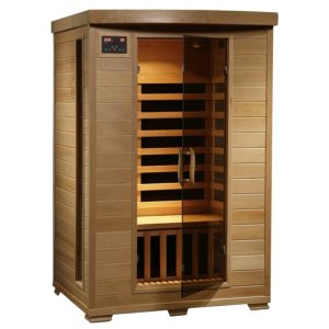 Radiant Saunas 2 Person Hemlock Deluxe Infrared Sauna.
