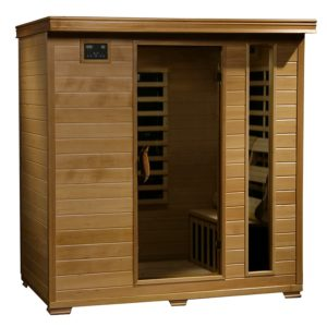 Radiant Saunas 4 Person Hemlock Infrared Sauna.