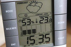 Temperature.
