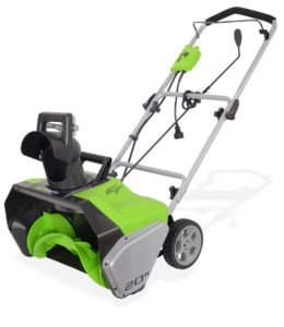 Greenworks 20-Inch 13 Amp Corded Snow Thrower 2600502.