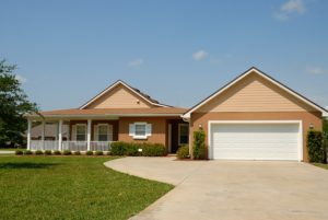 Homefront with driveway.