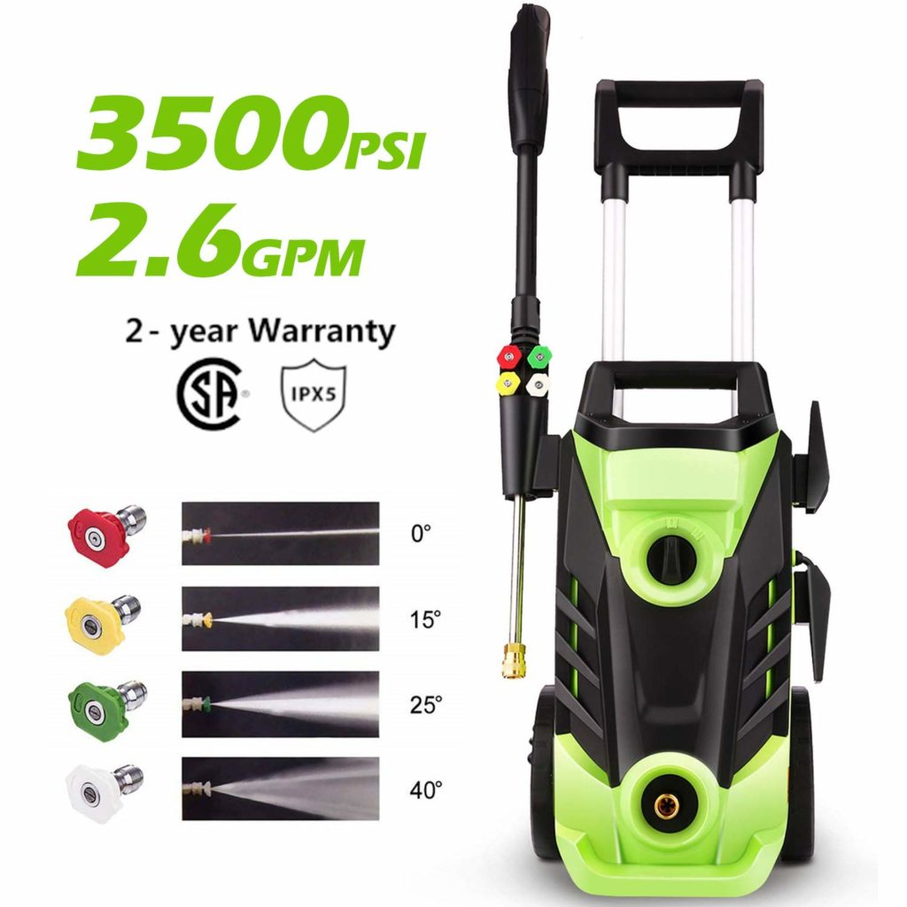 Most powerful pressure washer: the Homdox 3500 PSI.