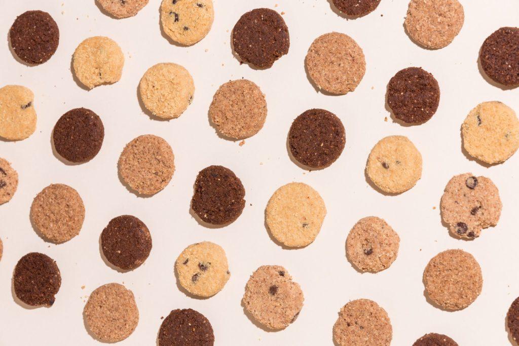 Assorted cookies.